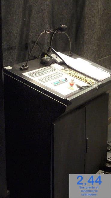 Control desk Salle du Metullum Melle (79)