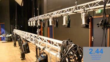 Pont aluminium Salle carré d'art Elven (56)