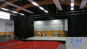 Front curtains, Espace Culture du Val-Saint-Martin Pornic (44)