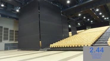 Gauge curtains, Amphithéa 4000 Angers (49)