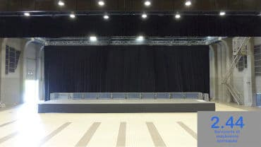 Stage back curtains, Amphithéa 4000 Angers (49)